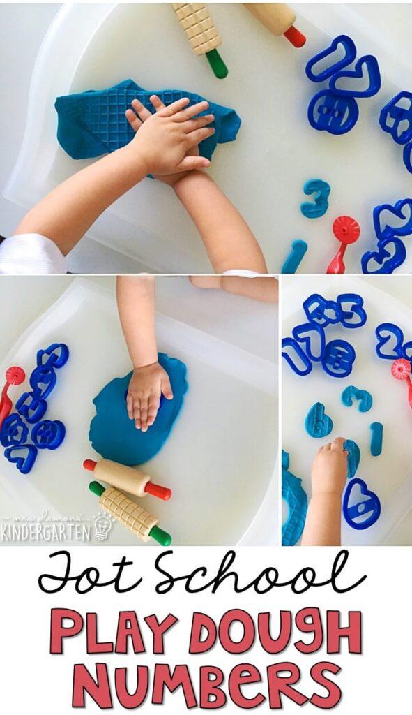 We LOVE making play dough numbers. Great for tot school, preschool, or even kindergarten!