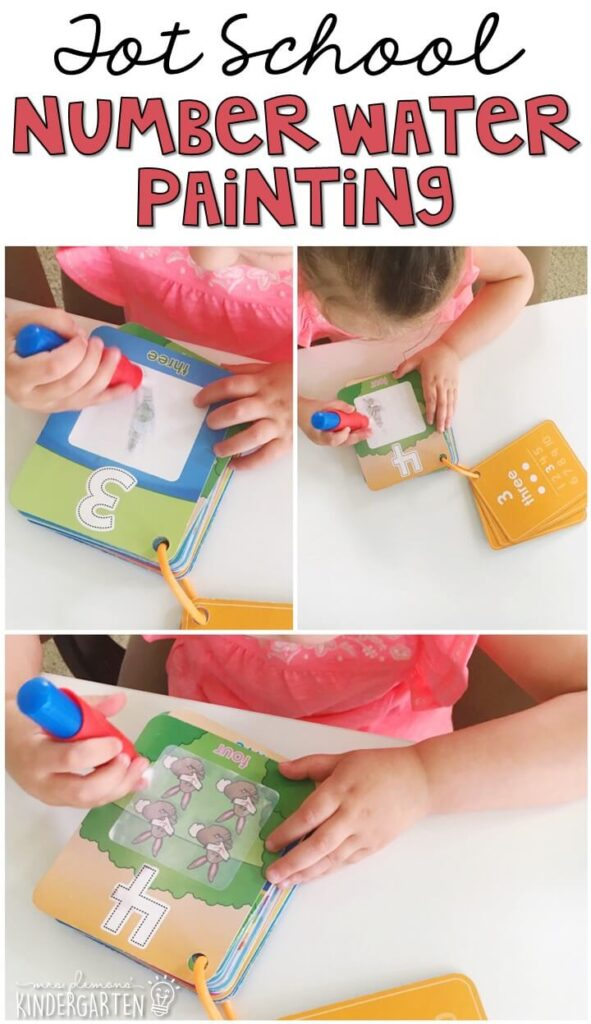 These Water Wow cards are AMAZING for number practice, engaging and no mess! Great for tot school, preschool, or even kindergarten!