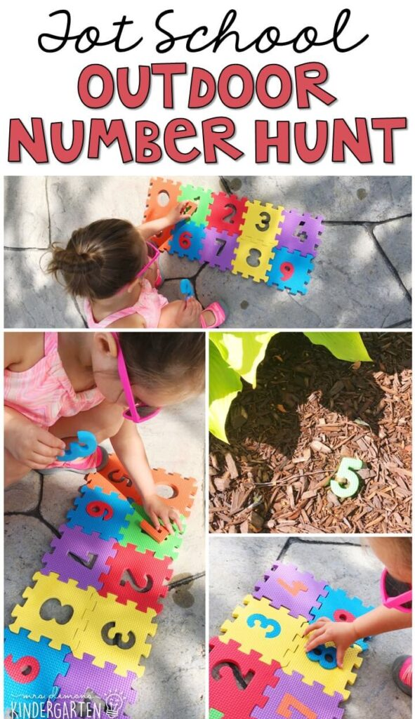 Learning is more fun when it involves movement! Learn numbers with this Chicka Chicka 123 Number Hop. Great for tot school, preschool, or even kindergarten!