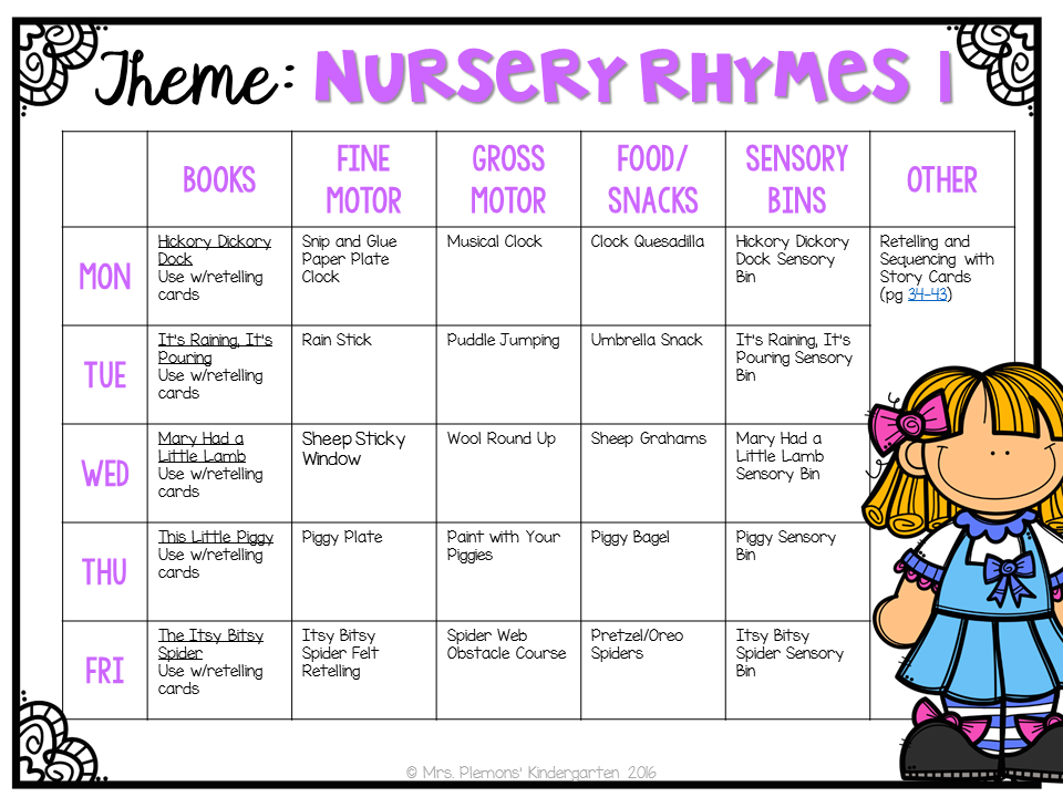 Here Were Our Plans For Nursery Rhyme Week