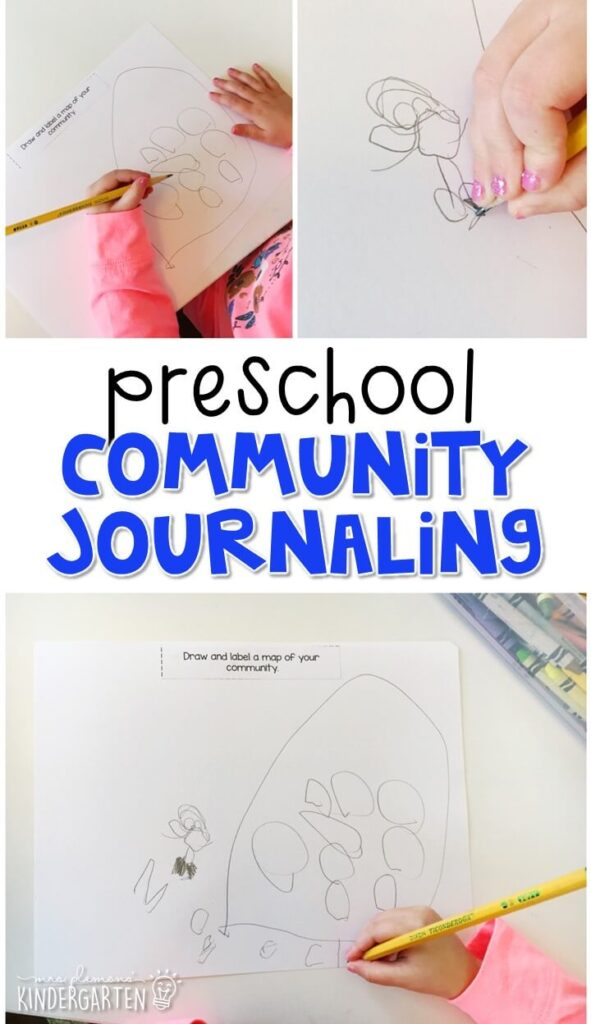This community journal writing activity is a great way to show learning, practice fine motor skills and learn about writing. Great for tot school, preschool, or even kindergarten!