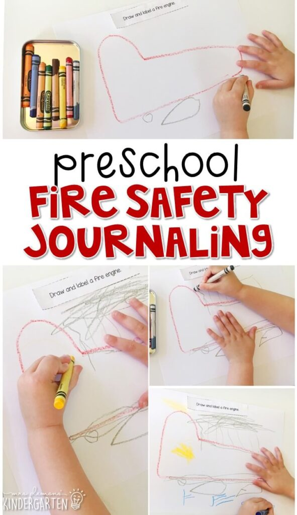 This fire safety journal writing activity is a great way to show learning, practice fine motor skills and learn about writing. Great for tot school, preschool, or even kindergarten!
