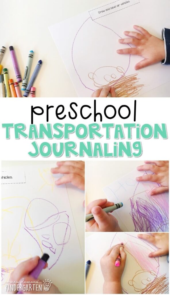 This transportation journal writing activity is a great way to show learning, practice fine motor skills and learn about writing. Great for tot school, preschool, or even kindergarten!