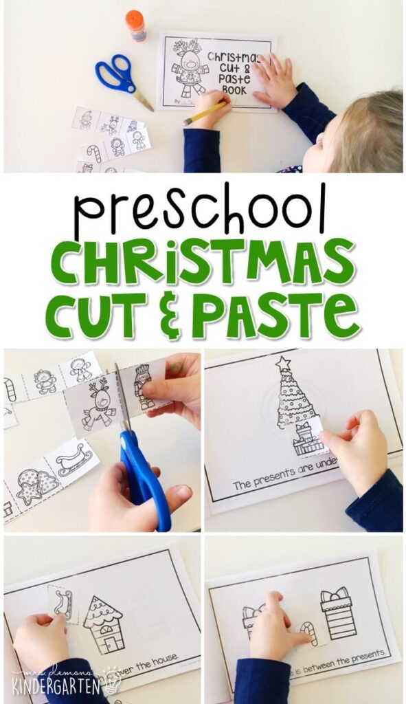 Practice identifying positional words with this Christmas cut and paste book. Perfect for a Christmas theme in tot school, preschool, or even kindergarten!