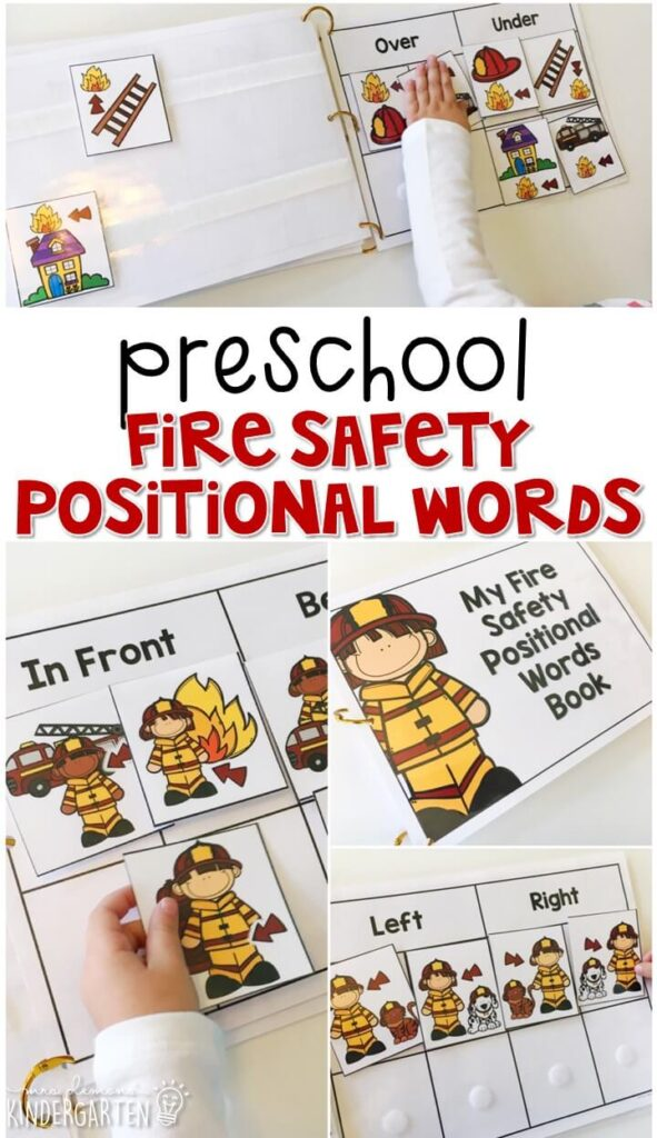 Learn about positional words with this fire safety interactive sorting book. Great for tot school, preschool, or even kindergarten!