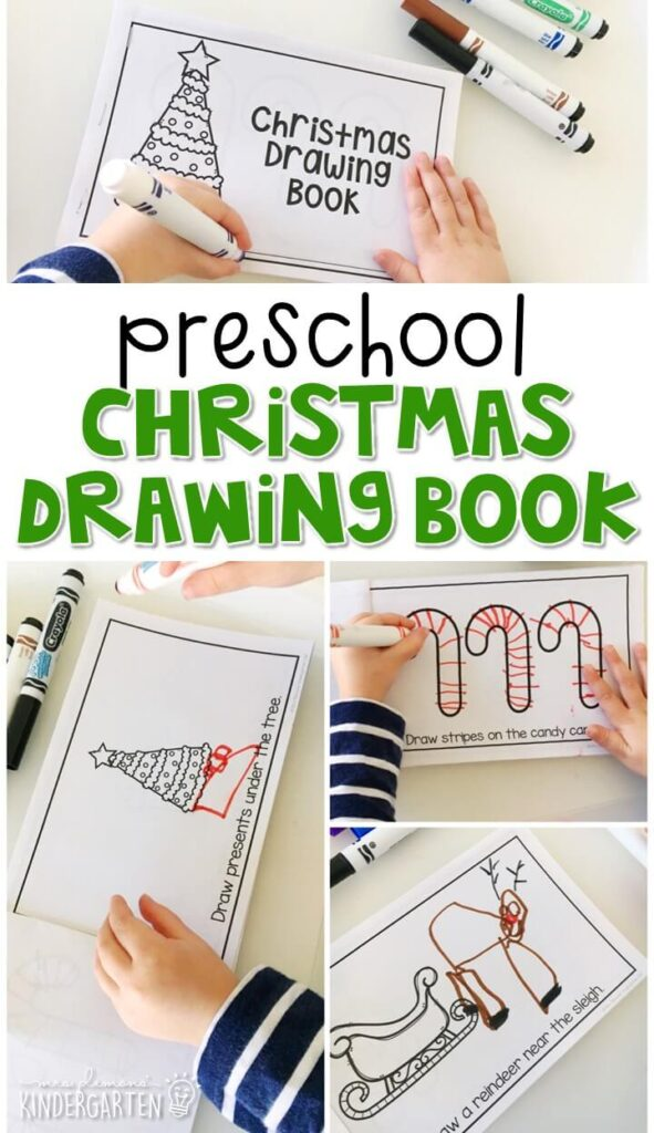 Practice identifying positional words with this Christmas drawing book. Perfect for a Christmas theme in tot school, preschool, or even kindergarten!