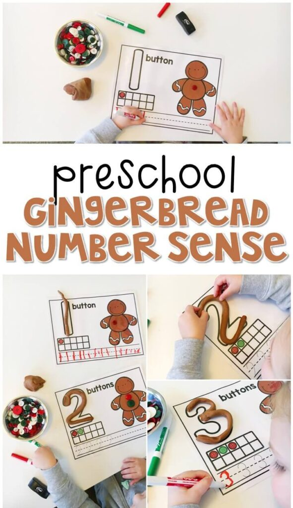 These gingerbread number mats are a super fun way to practice number identification, counting, number writing, and fine motor skills with a gingerbread theme. Great for tot school, preschool, or even kindergarten!