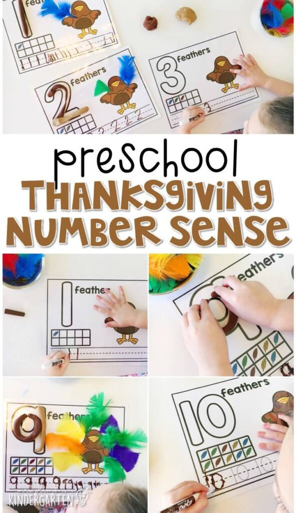 These turkey number mats are a super fun way to practice number identification, counting, number writing, and fine motor skills with a Thanksgiving theme. Great for tot school, preschool, or even kindergarten!