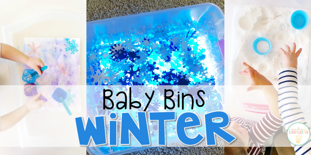 These winter themed sensory bins and activities are great for learning and play and are completely baby safe. Baby Bins are the perfect way to learn, build language, play and explore with little ones between 12-24 months old.