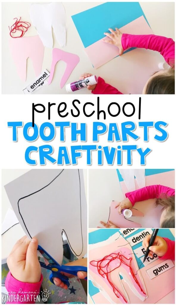 This toothbrush name craftivity is perfect for name and fine motor practice with a healthy habits theme. Great for tot school, preschool, or even kindergarten!