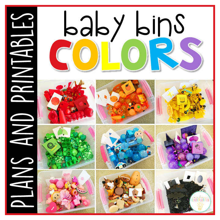 Tons of color themed activities and ideas. Weekly plans include a book and 5 activities to try out (a mixture of sensory bins, crafts, fine motor and gross motor activities)! These Baby Bin plans are perfect for learning with little ones between 12-24 months old.