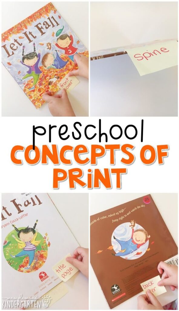 Practice concepts of print with this perfect fall picture book. Great for tot school, preschool, or even kindergarten!