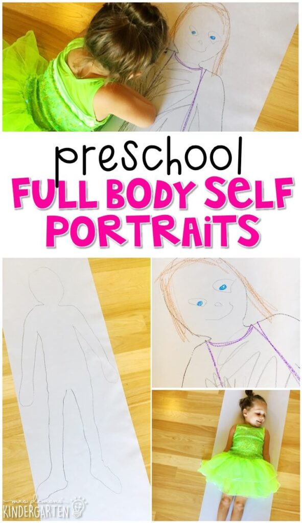 This full body self portrait is a fun way to incorporate lots of fine motor skills practice and wrap up an all about me theme. Great for tot school, preschool, or even kindergarten!