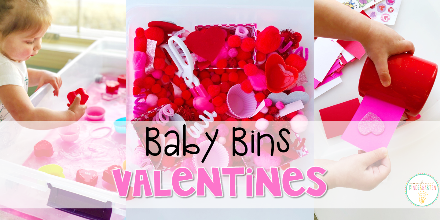 These valentines themed sensory bins and activities are great for learning and play and are completely baby safe. Baby Bins are the perfect way to learn, build language, play and explore with little ones between 12-24 months old.