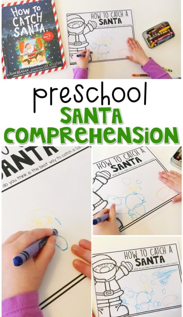 """Practice reading comprehension with """"How to Catch Santa"""" by Jean Reagan. Great for a Christmas theme in tot school, preschool, or even kindergarten!"""