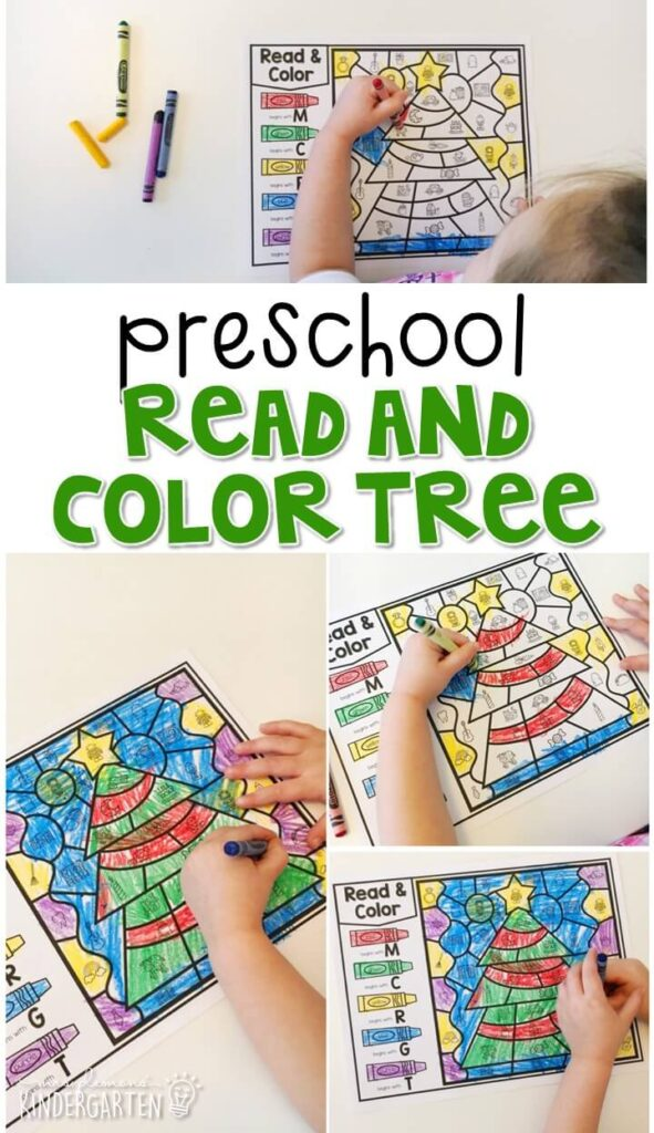 This read and color tree activity is a great way to work on beginning sounds and fine motor practice with a Christmas theme. Great for tot school, preschool, or even kindergarten!