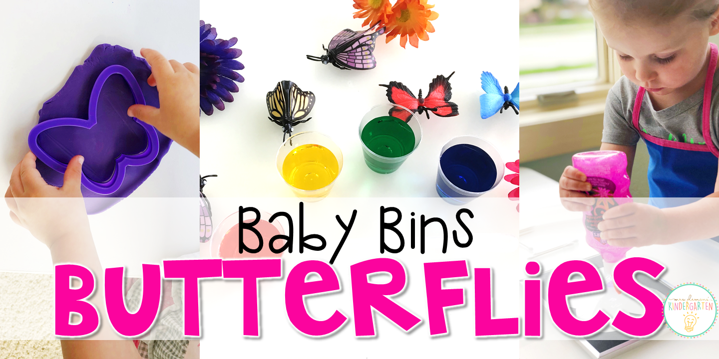 These butterfly themed sensory bins and activities are great for learning and play and are completely baby safe. Baby Bins are the perfect way to learn, build language, play and explore with little ones between 12-24 months old.
