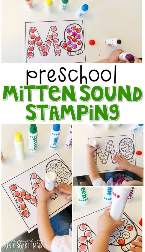 This Christmas sound stamping activity is perfect for letter, sound, and fine motor practice with a Christmas theme. Great for tot school, preschool, or even kindergarten!