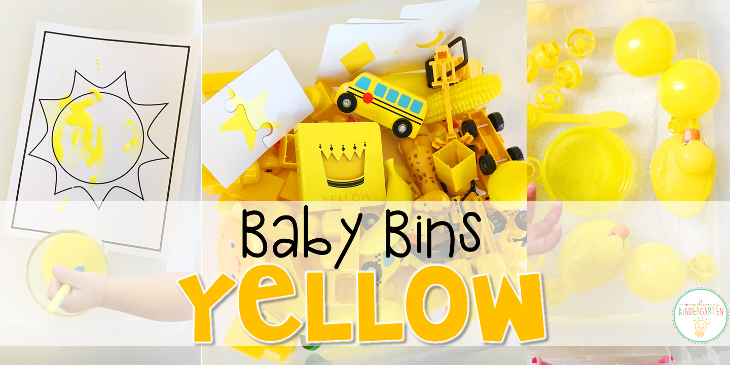Tons of yellow themed activities and ideas. Weekly plans include a book and 5 activities to try out (a mixture of sensory bins, crafts, fine motor and gross motor activities)! These Baby Bin plans are perfect for learning with little ones between 12-24 months old.