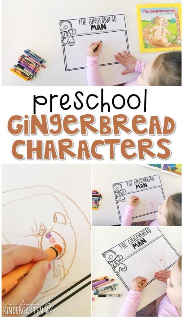 """Practice identifying characters with """"The Gingerbread Man"""" by Karen Schmidt. Great for a gingerbread theme in tot school, preschool, or even kindergarten!"""