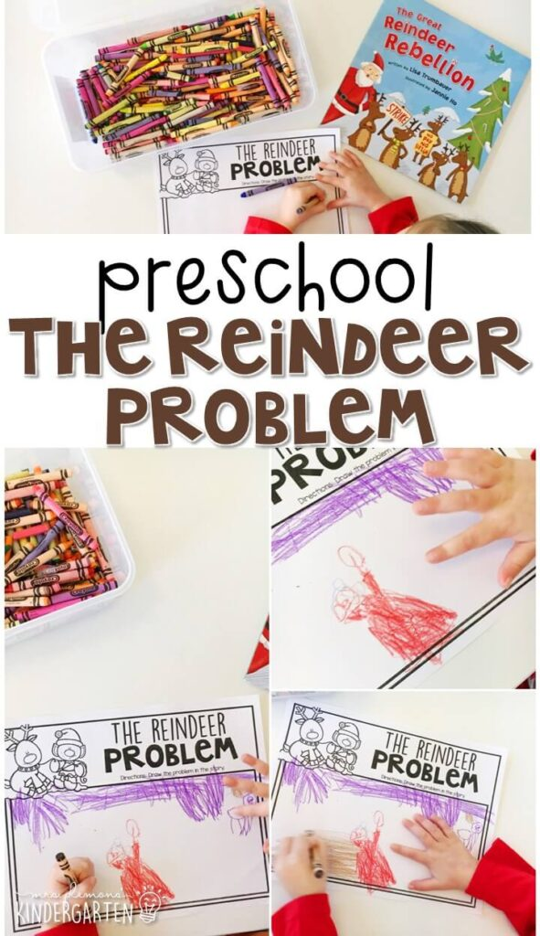 "Practice identifying problem and solution with ""The Great Reindeer Rebellion"" by Lisa Trumbauer. Great for a reindeer theme in tot school, preschool, or even kindergarten!"