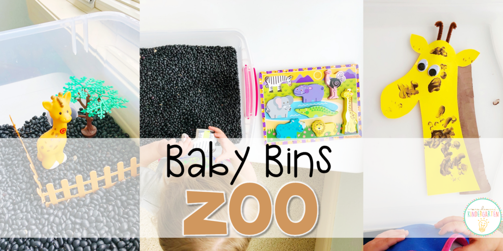 These zoo themed sensory bins and activities are great for learning and play and are completely baby safe. Baby Bins are the perfect way to learn, build language, play and explore with little ones between 12-24 months old.