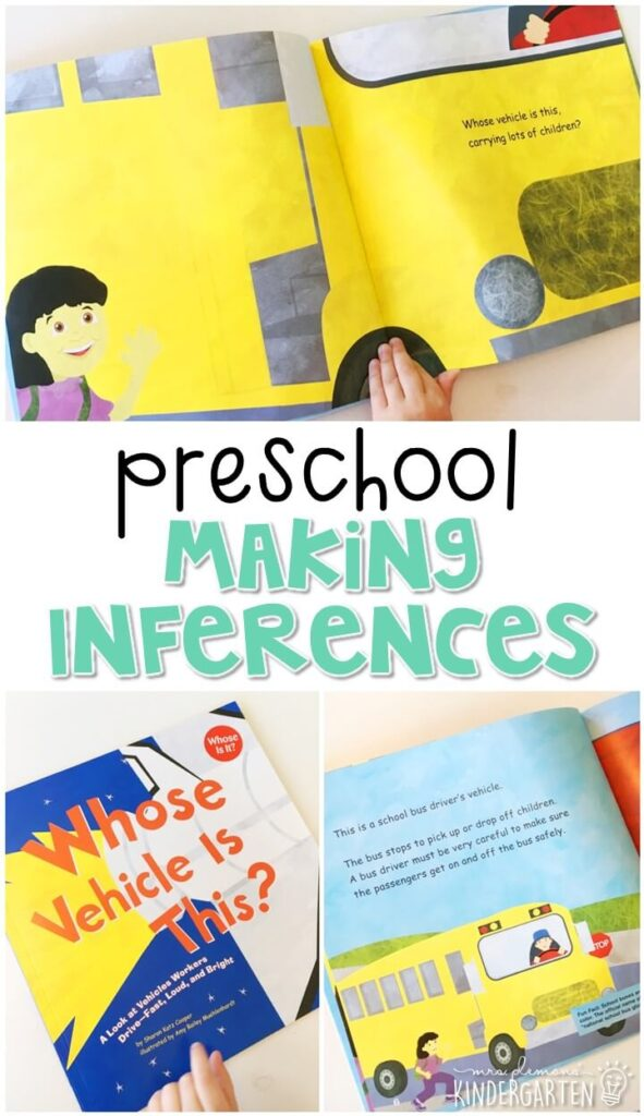 """Practice making inferences with this fun """"Whose Vehicle is This"""" story. Great for a transportation theme in tot school, preschool, or even kindergarten!"""