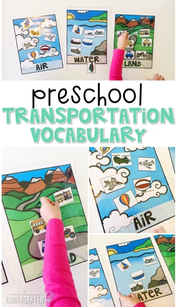 Practice transportation vocabulary with this vehicle matching activity. Great for tot school, preschool, or even kindergarten!