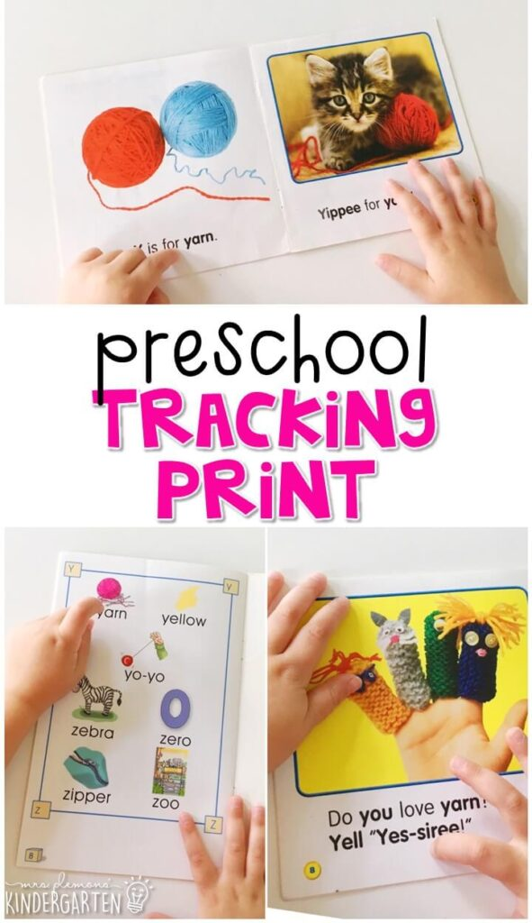 Practice tracking print with these easy readers. Great for tot school, preschool, or even kindergarten!