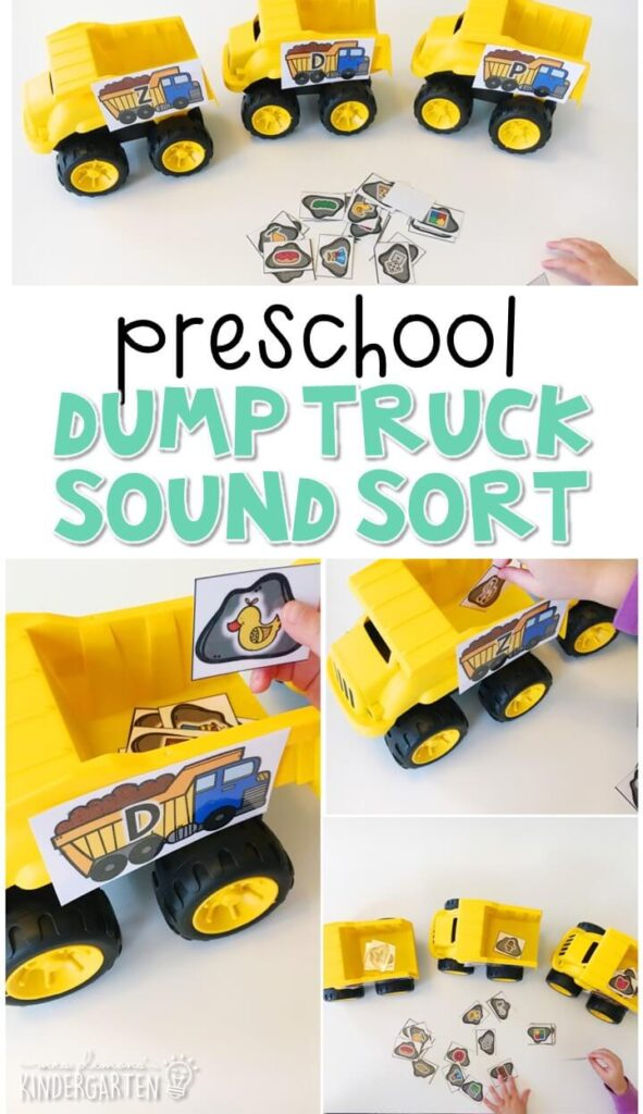 This dump truck sound sort activity is a fun way to work on beginning sounds with a transportation theme. Great for tot school, preschool, or even kindergarten!