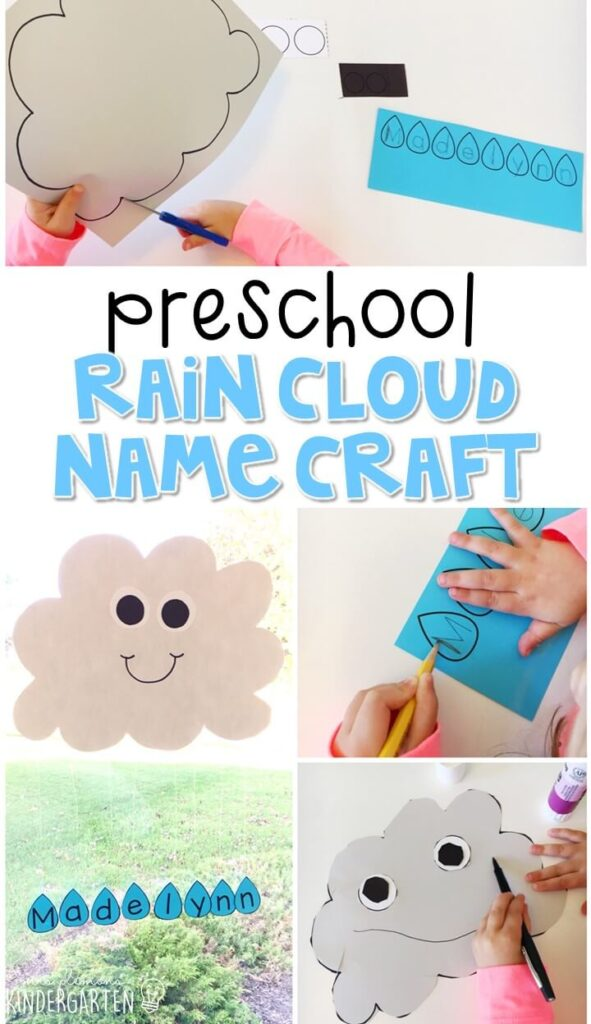 This rain cloud name craftivity is fun for name writing, recognition, and fine motor practice with a weather theme. Great for tot school, preschool, or even kindergarten!