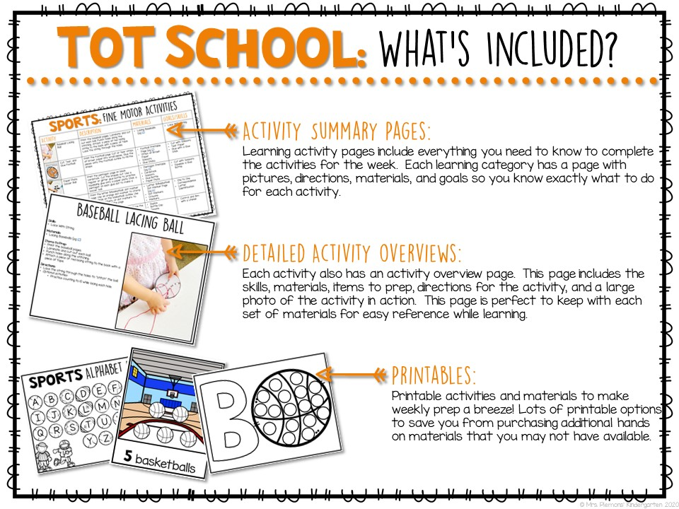 Tot School  Sports  Plans And Printables