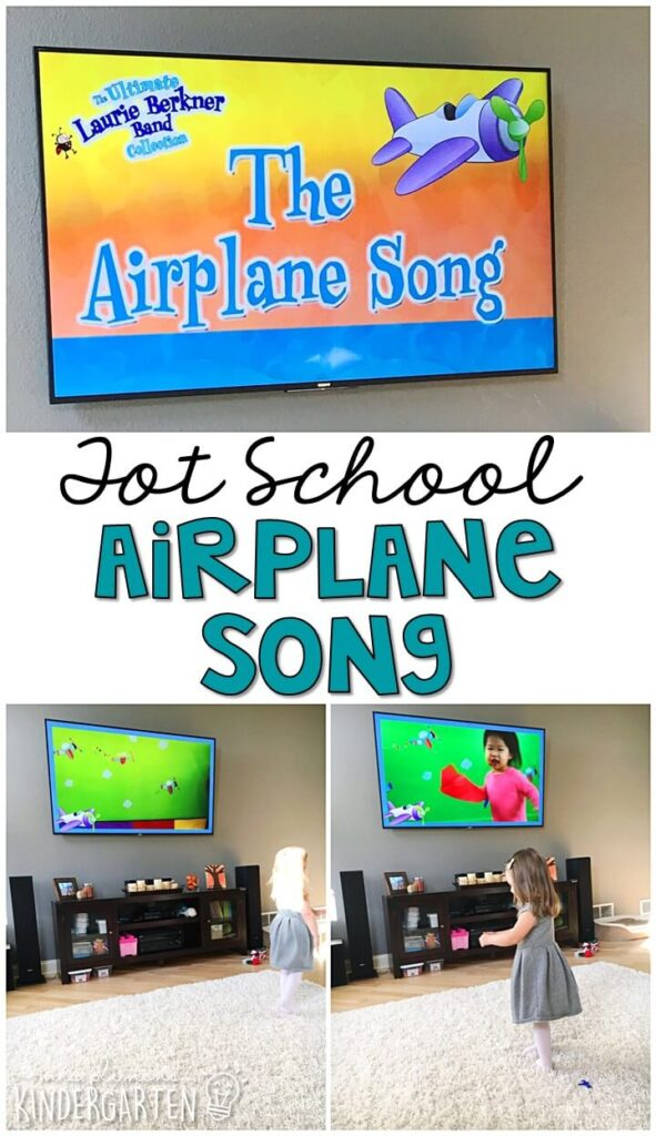 Learning is more fun when it involves movement! The Airplane Song is one of our favorite movement songs and it went perfectly with our transportation theme. Great for tot school, preschool, or even kindergarten!