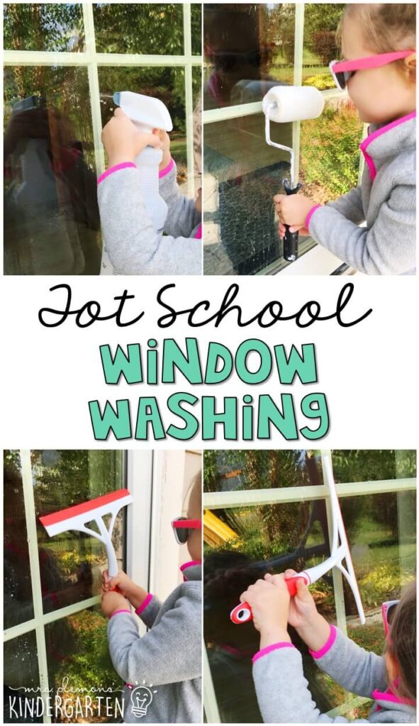 Learning is more fun when it involves movement! Pretend to be a window washer with this community helper themed fine and gross motor activity. Great for tot school, preschool, or even kindergarten!