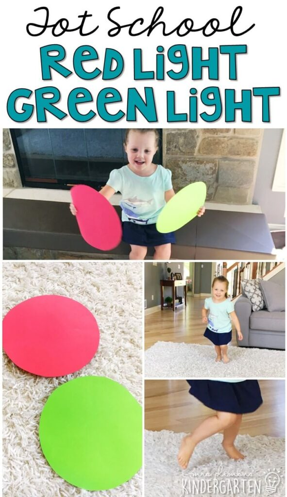 Learning is more fun when it involves movement! Playing red light green light with these visuals is the perfect easy and fun gross motor activity for a transportation theme. Great for tot school, preschool, or even kindergarten!