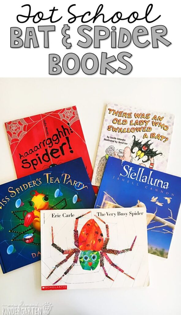 5 great books to read aloud for a bat & spider theme. Perfect for tot school, preschool, or even kindergarten