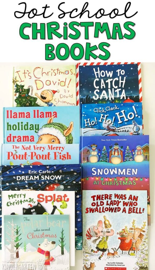 5 great books to read aloud for a Christmas theme. Perfect for tot school, preschool, or even kindergarten.