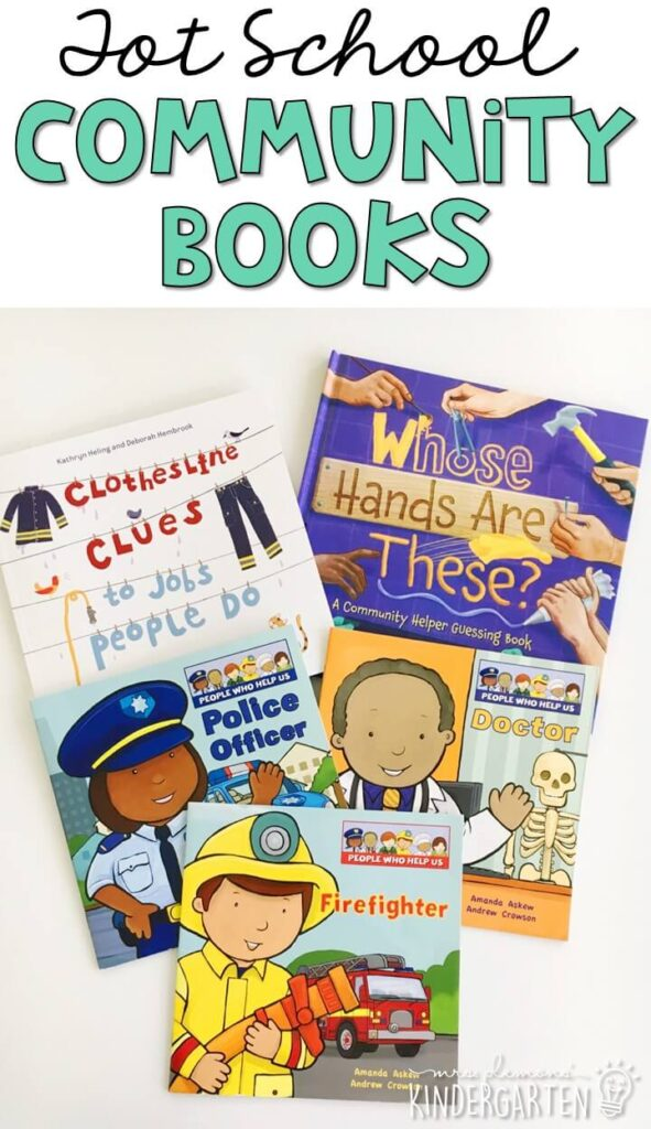 5 great books to read aloud for a community theme. Perfect for tot school, preschool, or even kindergarten.