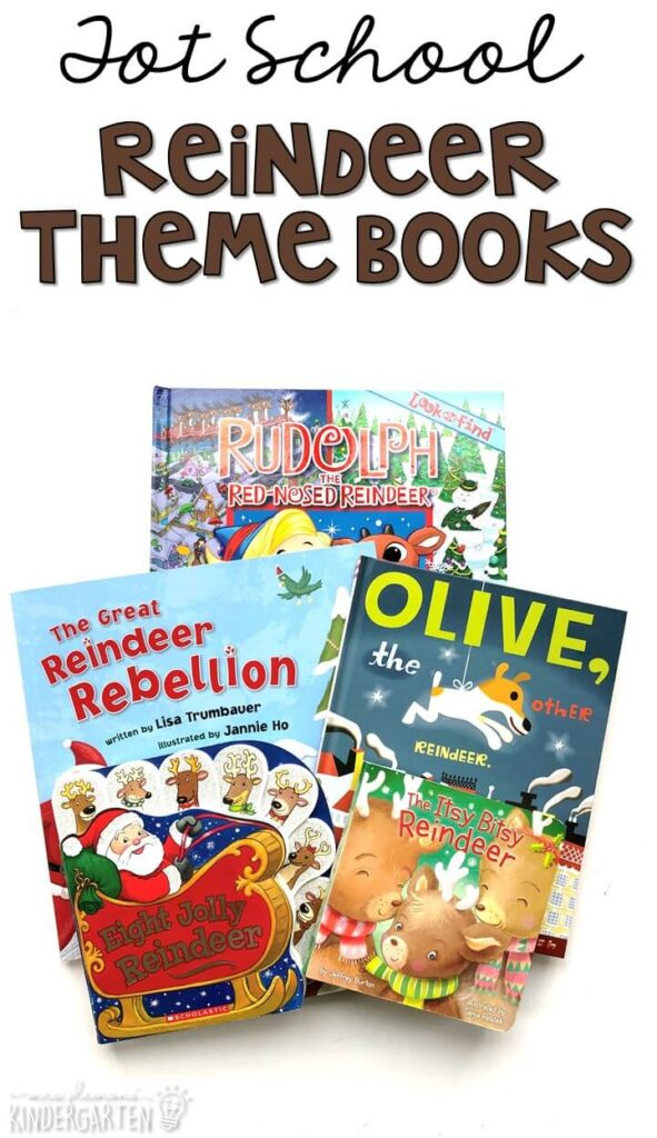 5 great books to read aloud for a reindeer theme. Perfect for tot school, preschool, or even kindergarten.