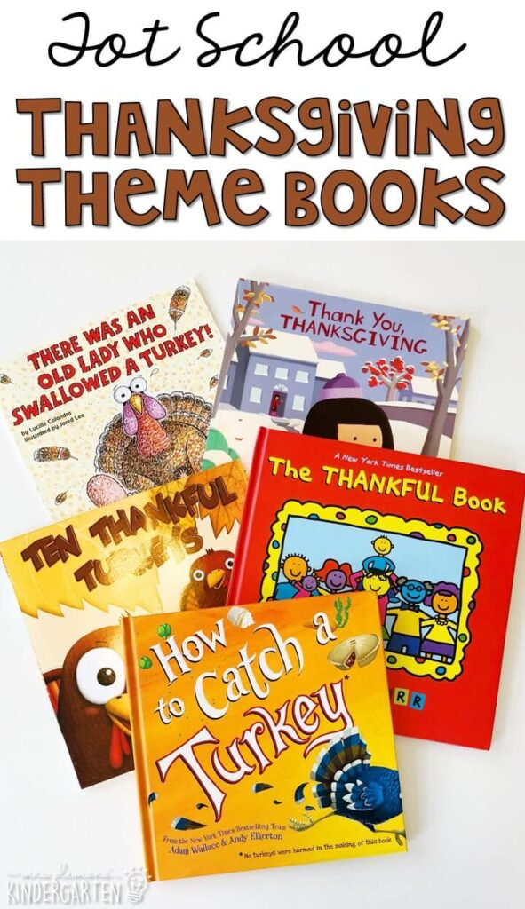 5 great books to read aloud for a Thanksgiving theme. Perfect for tot school, preschool, or even kindergarten.