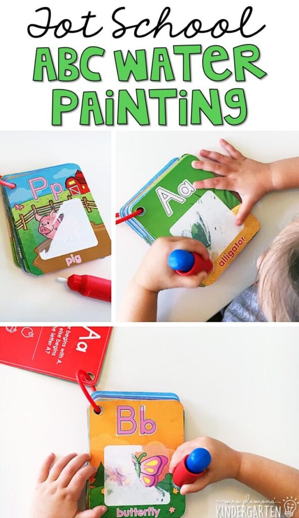 These Water Wow cards are AMAZING for letter practice, engaging and no mess! Great for tot school, preschool, or even kindergarten!