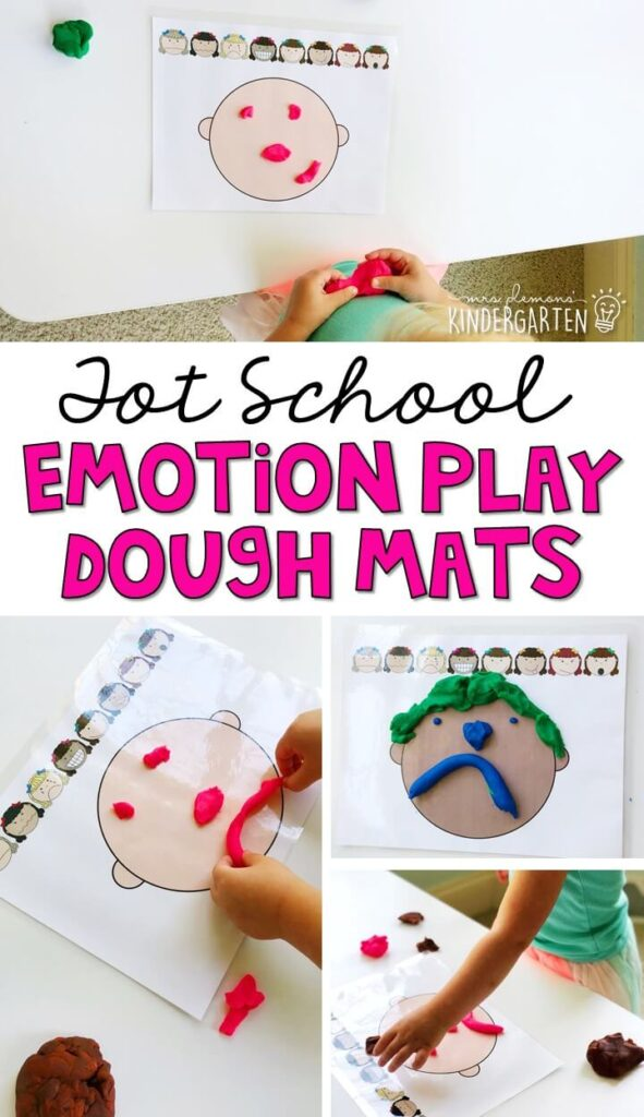 These emotion play dough mats are a great way to practice identifying emotions and fine motor skills with an all about me theme. Great for tot school, preschool, or even kindergarten!