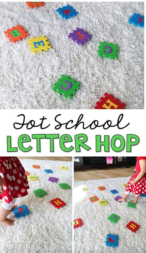 Learning is more fun when it involves movement! Learn letters and sounds with this Chicka Chicka Boom Boom Alphabet Puzzle Hunt. Great for tot school, preschool, or even kindergarten!