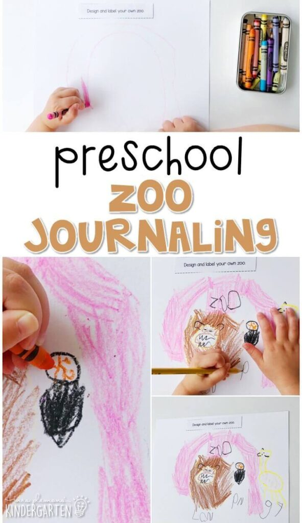 This zoo journal writing activity is a great way to show learning, practice fine motor skills and learn about writing. Great for tot school, preschool, or even kindergarten!