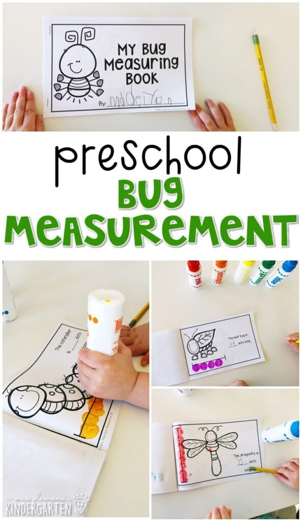 Practice measuring with this bug measurement book. Perfect for an insect theme in tot school, preschool, or even kindergarten!