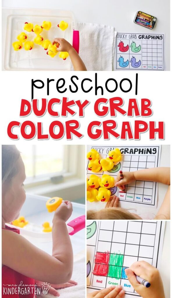 This ducky color grab graphing activity was a fun combination sensory bin and math activity. Perfect for a carnival theme in tot school, preschool, or even kindergarten!