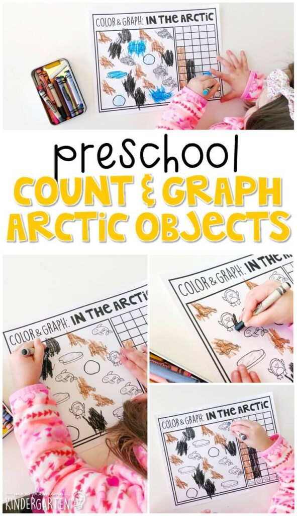 This count and graph penguin activity is a fun way to practice graphing with a winter theme. Great for tot school, preschool, or even kindergarten!
