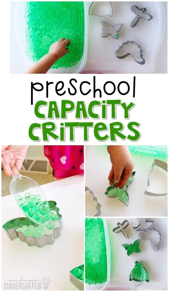 Explore capacity with these capacity critters. Perfect for an insect theme in tot school, preschool, or even kindergarten!