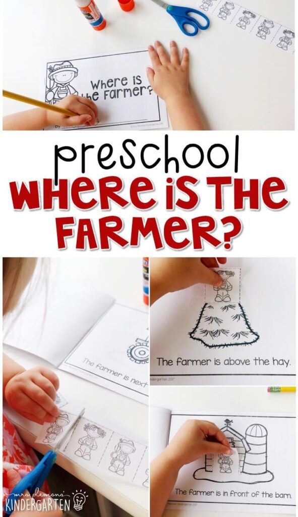 Learn about positional words with this Where is the Farmer? interactive emergent reader book. Great for tot school, preschool, or even kindergarten!