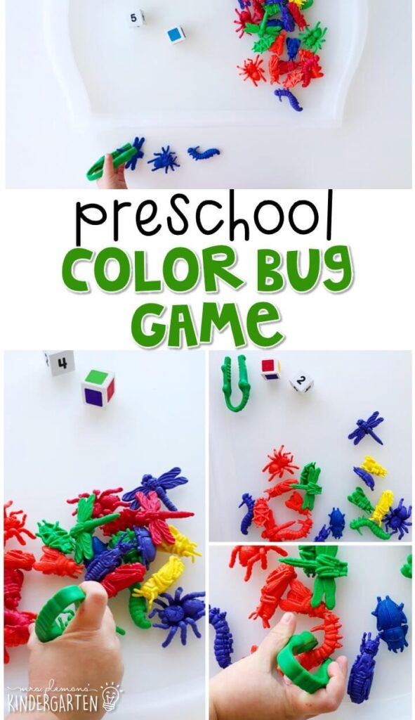 This bug catcher game is a super fun way to practice number and color identification, counting, and fine motor skills with an insect theme. Great for tot school, preschool, or even kindergarten!